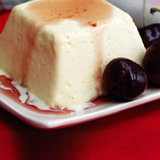 Bavarian Cream With Kirsch Cherries