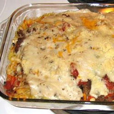 Beef and Fettucine Bake
