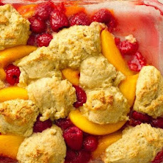 Healthified Peach Berry Cobbler