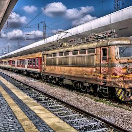HDR Train by Julian Popov - Transportation Trains ( railway, hdr, train, transportation, railway tracks )