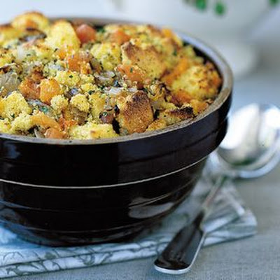 Corn Bread-Apricot Dressing with Rosemary