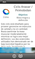 Screenshot of Ciclos (Anabolizantes)