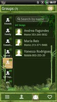 Screenshot of GOContacts theme BAMBOO