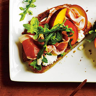 Open-Faced Prosciutto and Plum Sandwich