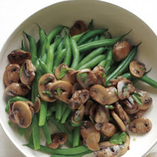 Green Beans with Sauteed Mushrooms and Garlic