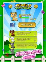 Screenshot of Jewels & Friends: Dog's game