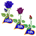 Rose Battery Widget Flower icon
