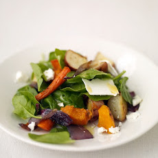Spinach Salad with Roasted Fall Vegetables