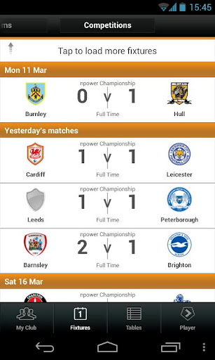 football-league-clubs-app for android screenshot