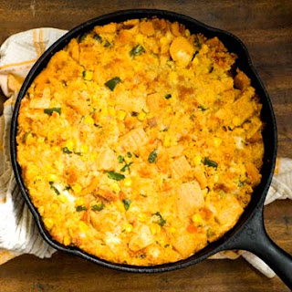 Tamale cornbread dressing (adapted from the Austin Chronicle)