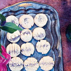 Rose Water Shortbread Cookies