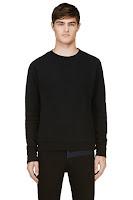 Robert Geller Seconds Black Minimal Sweatshirt