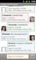 Screenshot of Secondary Family Locator