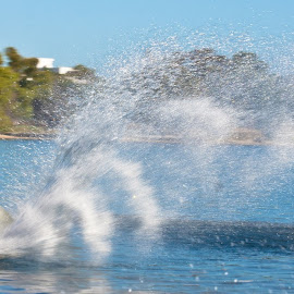 Spray by David Alderson - Sports & Fitness Watersports ( skiing, spray, water skiiing, wave, river )