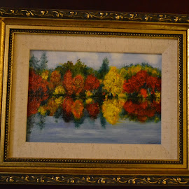 Fall Reflections II by Craig Higgins - Painting All Painting