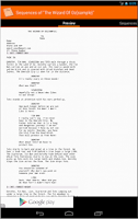 Screenshot of MyScreenplays Free