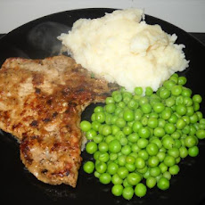 Braised Pork Loin Chops with Thyme-Lemon Sauce