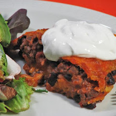 Sweet Potato Enchilada Stack