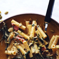 Ziti with Poblanos and Chipotle Sauce