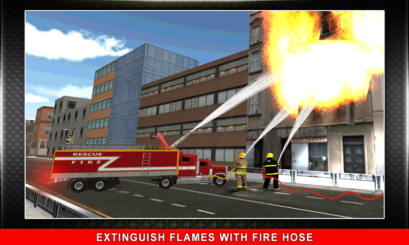 911 Rescue Fire Truck 3D Sim Screenshot 1