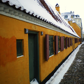 Copenhagen Military Homes by Brent Huntley - Buildings & Architecture Homes ( copenhagen, housing, denmark, yellow, military, colorful, mood factory, vibrant, happiness, January, moods, emotions, inspiration )