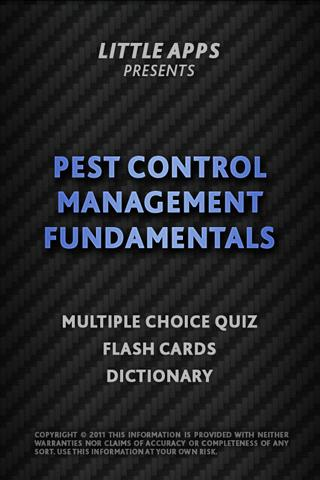PEST CONTROL FUNDAMENTALS