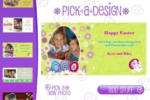 Screenshot of Build-a-Card: Easter Edition