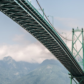 Lions Gate by Peter S. - Buildings & Architecture Bridges & Suspended Structures ( mountains, canada, nature, view, architecture, bridge, landscape, bc, vancouver )