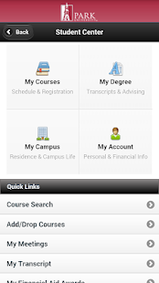 Park University Mobile - screenshot