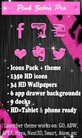 Screenshot of Pink Zebra Pro Launchers theme