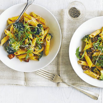Penne With Chorizo & Broccoli