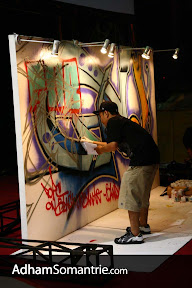 Djarum Black Urban Art 2008 Bandung - Ucok, Live Grafitti