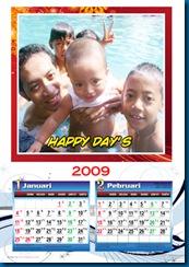 Desain Sendiri Kalender 2009 template versi MSWORD