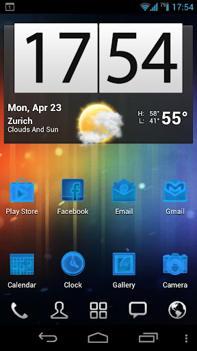 Neon Blue+ Icons Pack - ADW GO