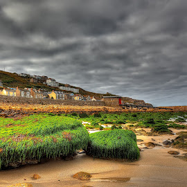 Seaweed Rocks.... by Graham Markham - Landscapes Beaches ( clouds, uk, sky, sennen cove, cornwall )