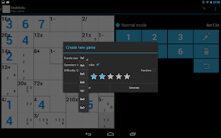 Screenshot of MathDoku