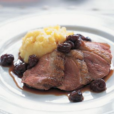 Duck with Tart Cherry-Port Sauce