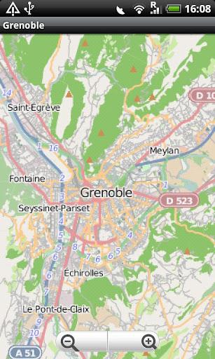 Grenoble Street Map