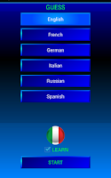 Screenshot of Guess and learn Italian