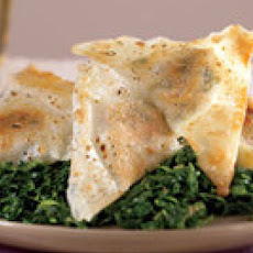 Pan-Fried Pork Wontons with Spinach