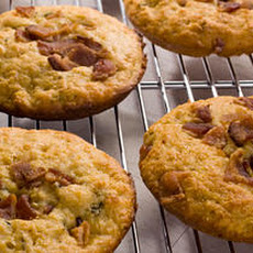 Bacon-Thyme Corn Muffin Tops Recipe
