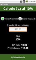 Screenshot of Iva 10%