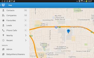 Screenshot of Upvise Pro CRM