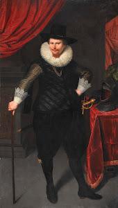 RIJKS: Cornelis van der Voort: Portrait of Laurens Reael 1620