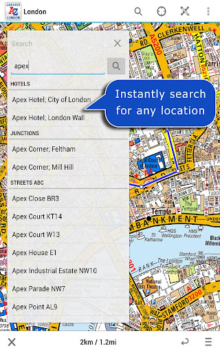 Greater London A-Z Map by Zuti - screenshot
