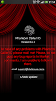 Screenshot of Phantom Caller ID