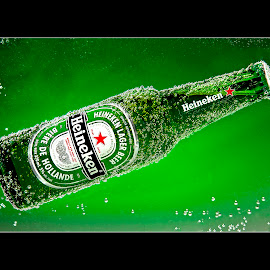 Heinee by Thomas Crown - Food & Drink Alcohol & Drinks ( heineken, green, bottle )