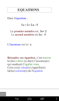 Screenshot of Pocket Math 3ème