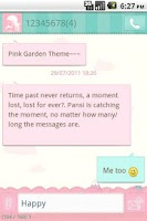 Screenshot of Easy SMS Pink Garden Theme