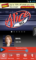 Screenshot of Alice 105.9